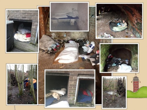 Rough sleeping spots Stockport